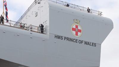 英國新航母「威爾斯親王號」正式服役