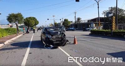 吉安機車路口遭撞2重傷 婦一度沒心跳