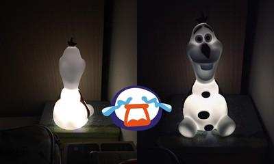 房間放雪寶小夜燈!「臉透詭光」網笑噴