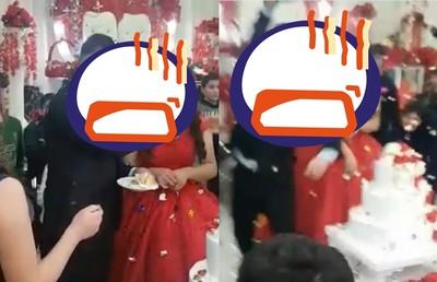 蛋糕硬塞新娘 暴走新郎嚇壞賓客