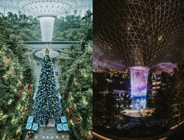 期間限定雪花瀑布水舞秀、人造雪森林谷 星耀樟宜白色聖誕3大必拍美景