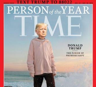 團隊把川普大頭P上時代雜誌封面