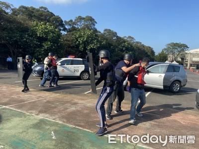 林口農會防搶演練 民眾讚:看見警察感覺真好
