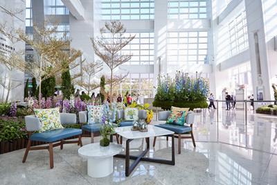 台北101大樓出現島嶼夢幻花園