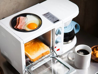 多睡十分鐘!日本懶人「三合一早餐機」吐司、煎蛋、泡咖啡同時搞定