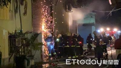 五股工廠凌晨失火 辦公室遭燒毀
