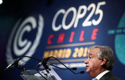 氣候會議無成果 聯合國秘書長:很失望