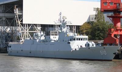 陸首艘056A改進型護衛艦「朔州艦」服役