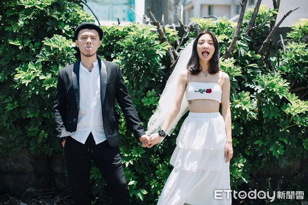▲▼高雋雅、Edward婚紗照。(圖/雞與花環照相館提供)
