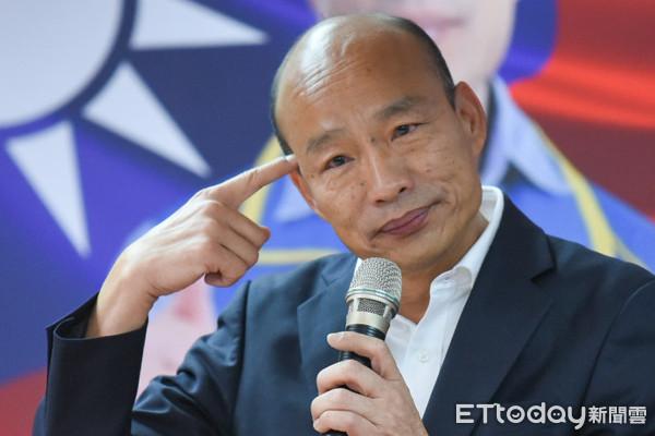 ▲國民黨總統候選人韓國瑜出席工商界後援會成立大會。(圖/記者林敬旻攝)