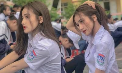 越南學生妹手抓馬尾撩翻 側臉也精緻炸
