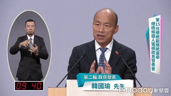 ▲▼2020總統政見發表會,韓國瑜。(圖/中選會提供)