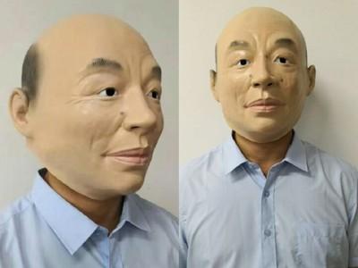 「全球最逼真」韓國瑜頭套 交換禮物收到超嗨