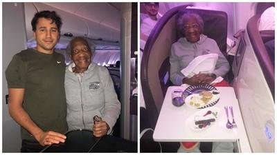 88歲婦人剛做完膝蓋手術 暖男哥「愛心發作」主動讓出頭等艙