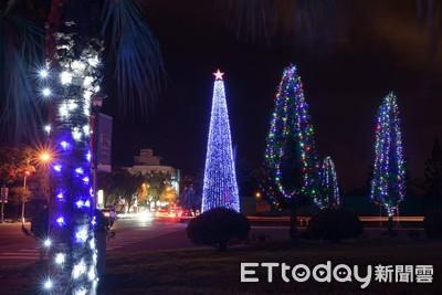 花蓮溫馨過聖誕 22公尺高聖誕樹24日點燈