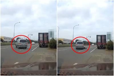 廂型車緩緩駛出!路中憑空冒機車 撞擊畫面驚呆網