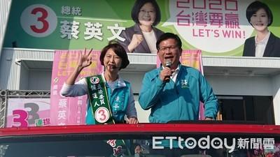 陳亭妃以逼近70%奪下區域立委得票率冠軍