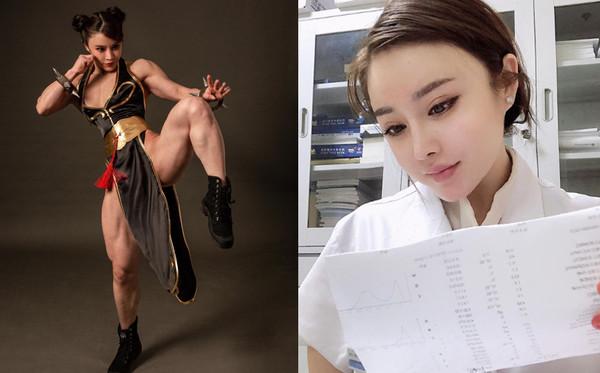 ▲▼中國女中醫健美的超驚人。(圖/翻攝自IG@yuanherong1229)
