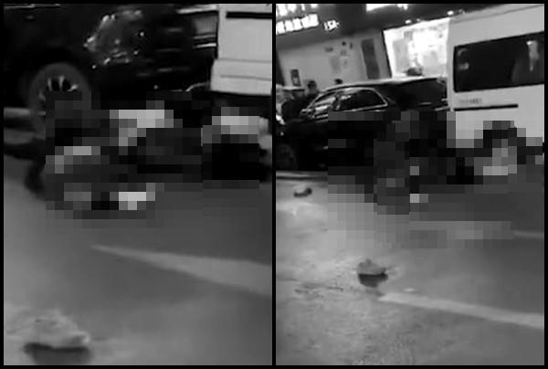 ▲▼31歲男跳樓「砸中2高中生」3人當場慘死。(圖/翻攝自時間視頻)