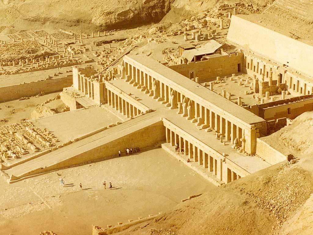 ▲▼埃及哈特謝普蘇特神廟(圖/翻攝自Wikipedia)