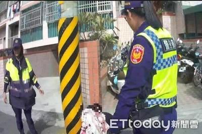 婦輕生吞藥離家癱路邊 警即時搶救
