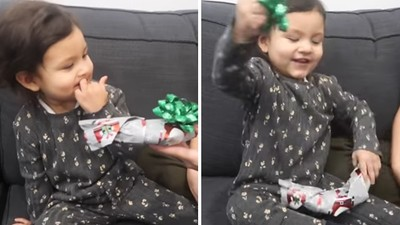 本來想惡整女兒!調皮老爹「精美包裝香蕉一根」當禮物 女兒反應讓他投降