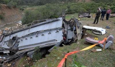 印尼巴士墜谷35死 有遺體被沖走