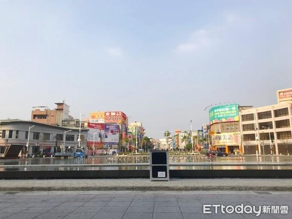 ▲屏東火車站周邊景色            。(圖/記者洪靖宜攝)