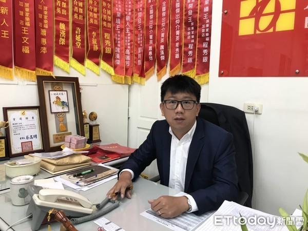 ▲東森房屋屏東家樂福加盟店經理魏漢傑。(圖/記者洪靖宜攝)