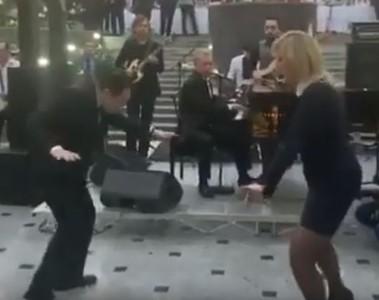 普丁御用女發言人「舞會性感熱舞」 黑絲襪配窄裙辣翻