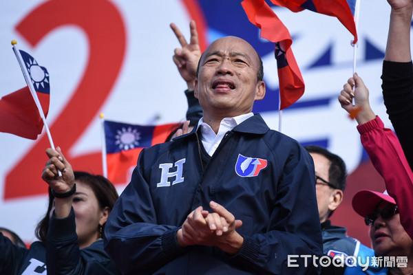 ▲韓國瑜出席李彥秀港湖大團結造勢。(圖/記者林敬旻攝)