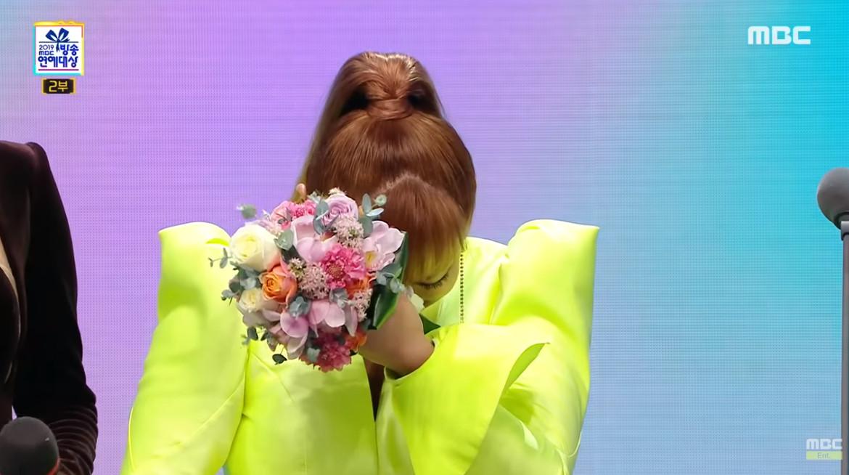 ▲朴娜勑獲得2019年MBC演藝大賞「大賞」。(圖/翻攝自MBCentertainment YouTube)