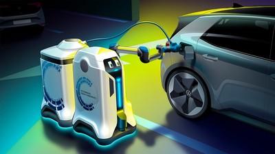 電動車沒電「可愛機器人幫你充」