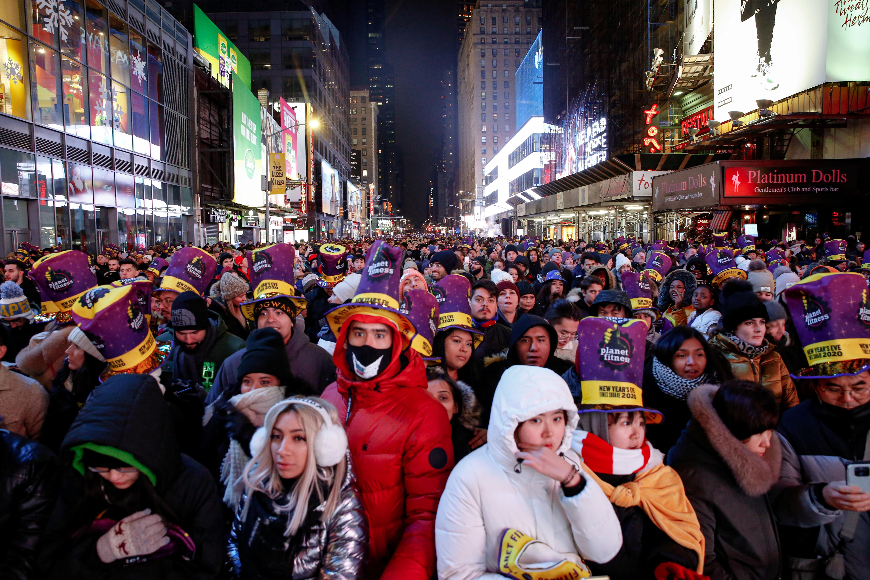 ▲▼紐約時報廣場準備迎接2020。(圖/路透)