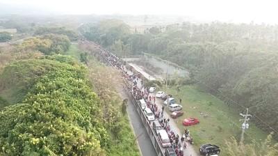 紫南宮錢母9萬人排隊綿延7公里