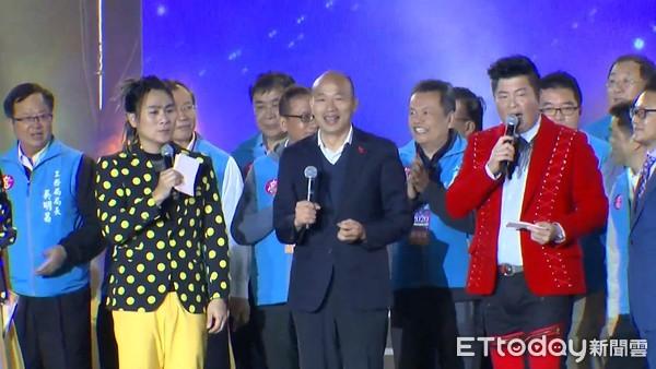 ▲▼韓國瑜出席高雄夢時代跨年晚會。(圖/ETtoday攝影中心攝)