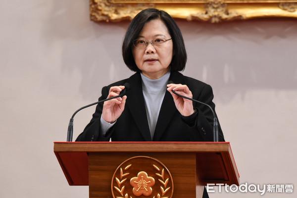▲總統蔡英文發表元旦談話。(圖/記者林敬旻攝)