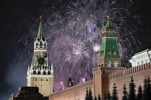 ▲2020莫斯科紅場煙火。(圖/達志影像/美聯社)