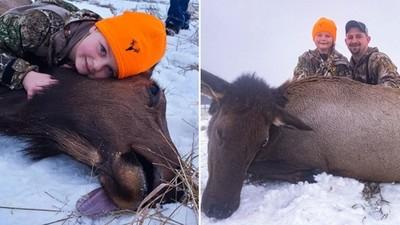8歲女童「射殺母鹿」樂歪!堅持拿最大把步槍,向父親保證:要當女獵人