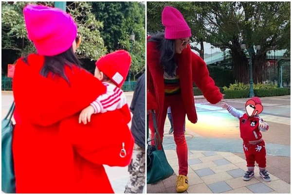 ▲張柏芝帶小孩去遊樂園,被路人偷拍。(圖/翻攝自張柏芝Instagram)