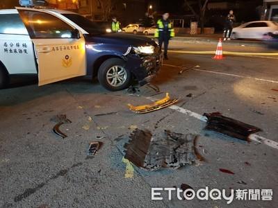 選舉倒數7天高雄槍響!擴大臨檢警車遭休旅車衝撞