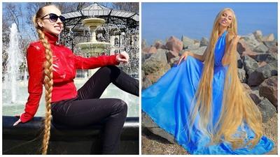 長髮公主現實版!天生金髮「29年沒剪」七天洗一次 長度超過180cm