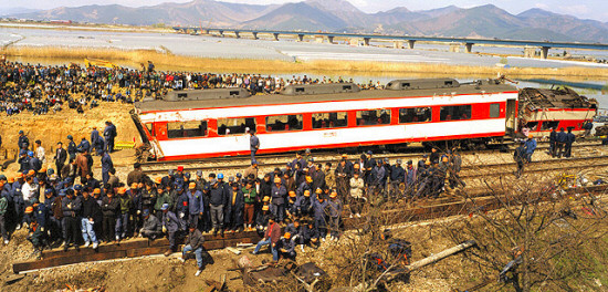▲▼南韓釜山龜浦站層發生嚴重列車出軌事故(圖/翻攝自나무위키)