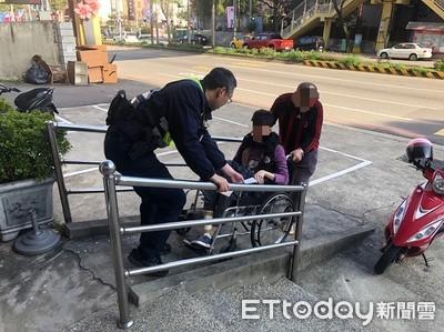 中風婦欲坐輪椅回娘家 迷途馬路險象環生