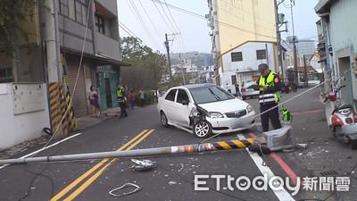 孕婦駕車撞電桿 釀民宅瓦斯外洩