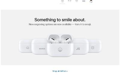 蘋果免費提供客製化鐫刻AirPods 30多款表情符號任你選