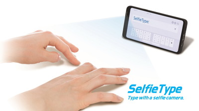虛擬鍵盤成真?三星研發AI隱形鍵盤SelfieType