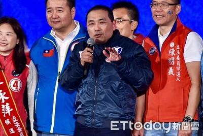 韓國瑜新北慘輸43萬 侯友宜:更該捲起袖子賣力做事