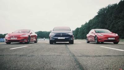 特斯拉電動車全陣容PK直線加速