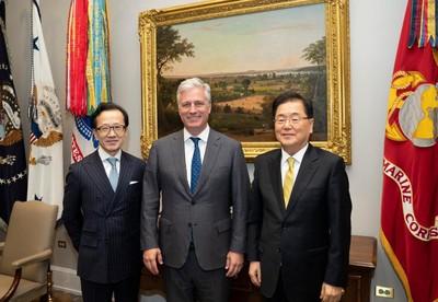 川普會晤青瓦台安保室長 強調同盟關係
